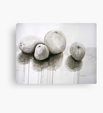 Fruit in India Ink Canvas Print