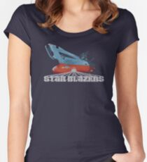 Star Blazers Women's Fitted Scoop T-Shirt