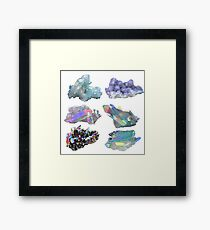 Crystals  Framed Print