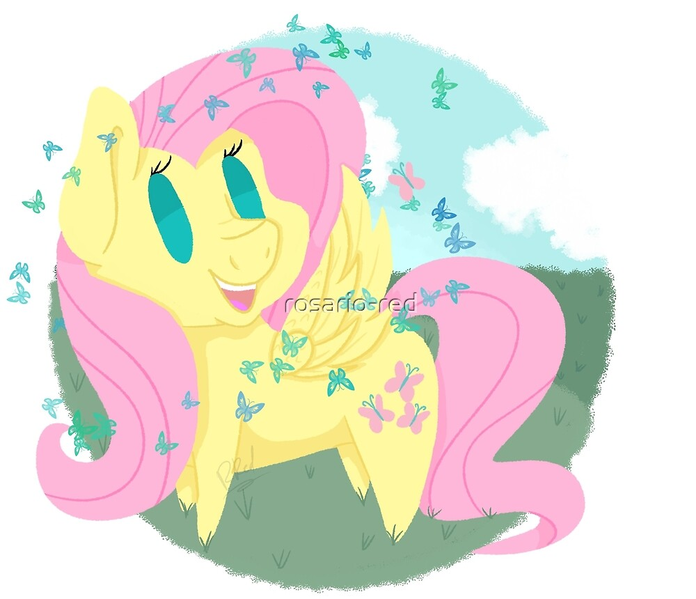 Butterfly Chibi Fluttershy by rosario-red