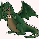 Doughnuts make dragons happy by biev