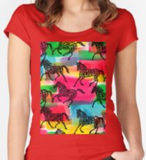 Horse Stampede Women's Fitted Scoop T-Shirt