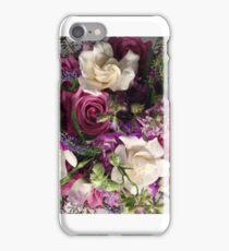 Gardenias In A Purple Bridal Bouquet iPhone Case/Skin