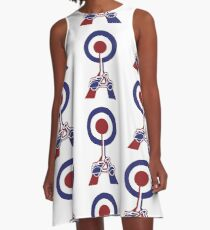 Retro Mod target and scooter Art A-Line Dress