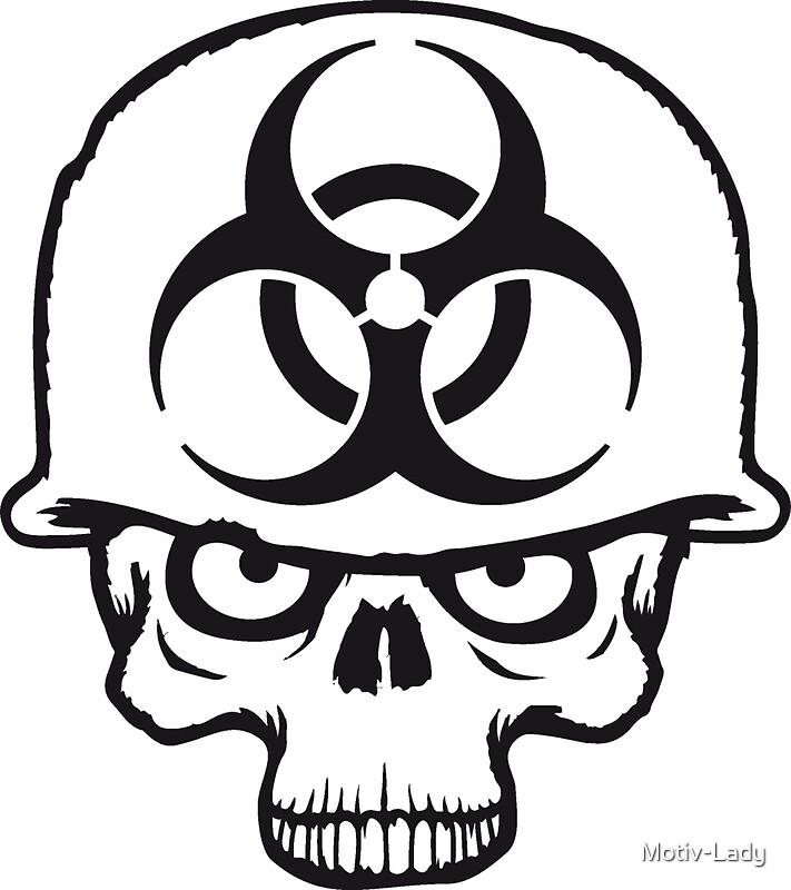 zombie biohazard symbols