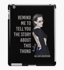 Gillian Anderson: Thong Series iPad Case/Skin