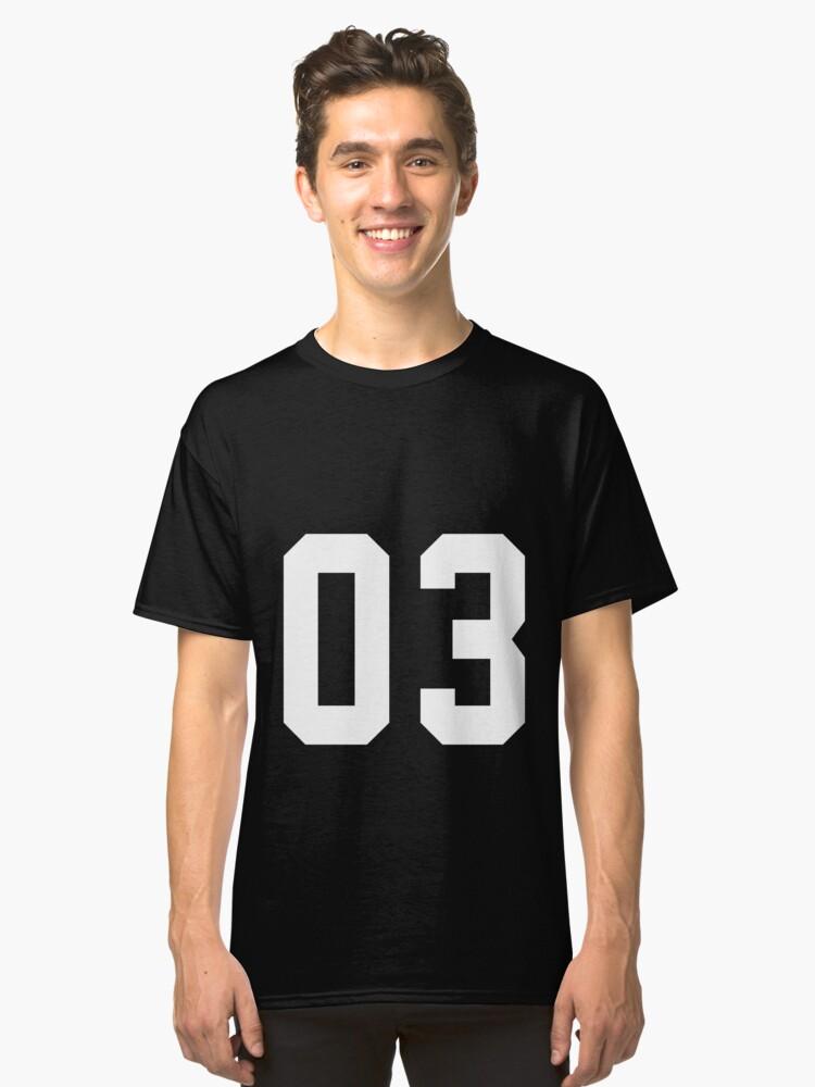 Team Jersey 03 T-shirt / Football, Soccer, Baseball Classic T-Shirt Front