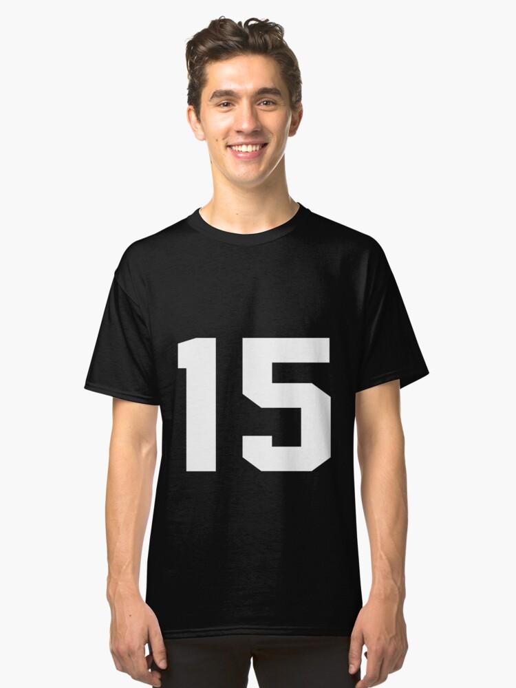 Team Jersey 15 T-shirt / Football, Soccer, Baseball Classic T-Shirt Front