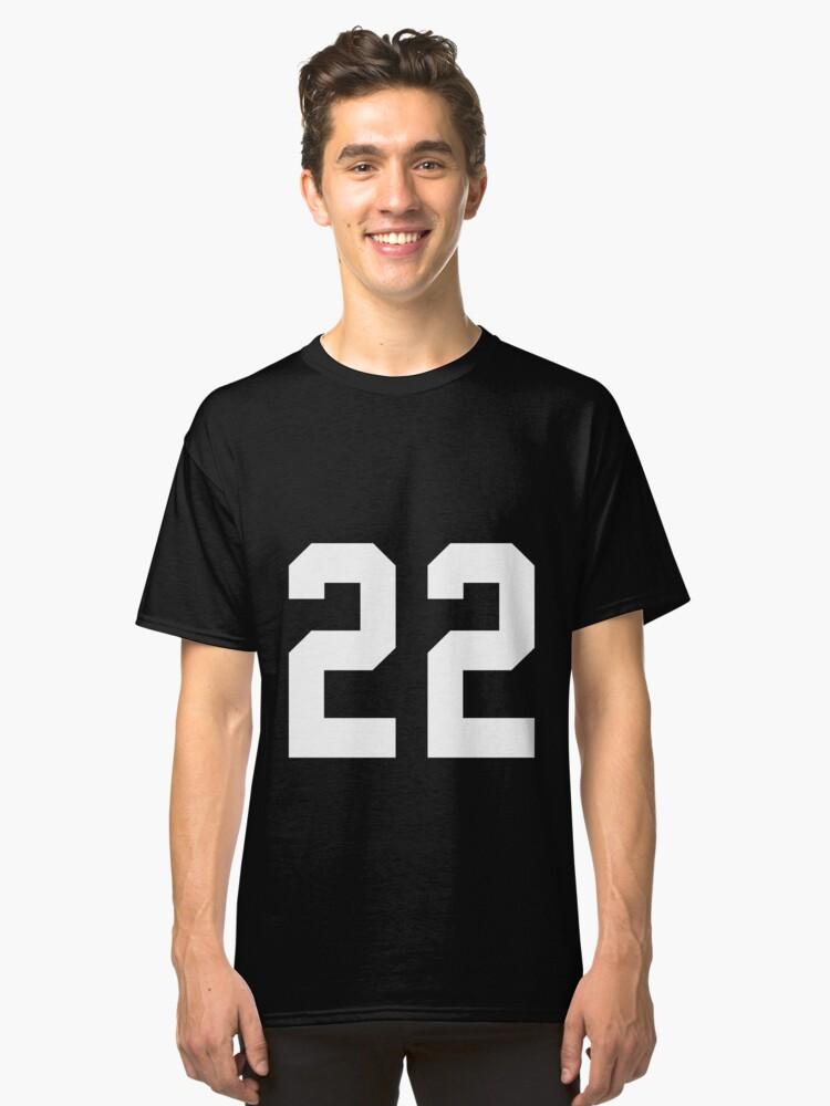 Team Jersey 22 T-shirt / Football, Soccer, Baseball Classic T-Shirt Front