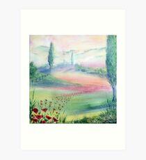 A Walk Through The Poppy Fields Art Print