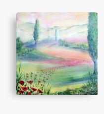 A Walk Through The Poppy Fields Canvas Print