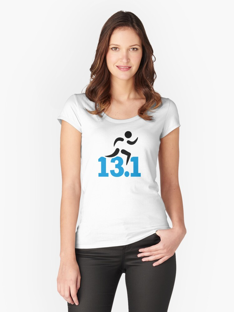Half marathon 13.1 miles Women's Fitted Scoop T-Shirt Front