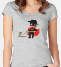 Retro Kid Billy features the legendary Zorro  Women's Fitted Scoop T-Shirt