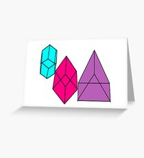 shape blocks Greeting Card