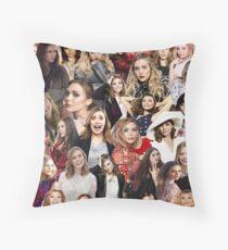 Elizabeth Olsen Collage  Throw Pillow