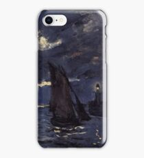 Claude Monet - A Seascape. Shipping by Moonlight  iPhone Case/Skin