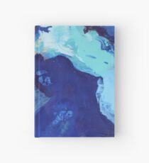 Birds Eye View - Abstract Acrylic Fluid Painting  Hardcover Journal