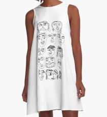 face collage A-Line Dress