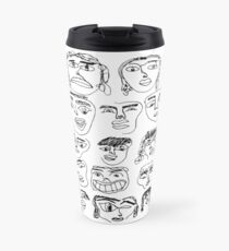 face collage Travel Mug
