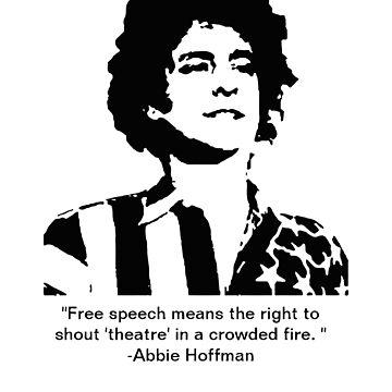 Abbie hoffman by CaseDesign