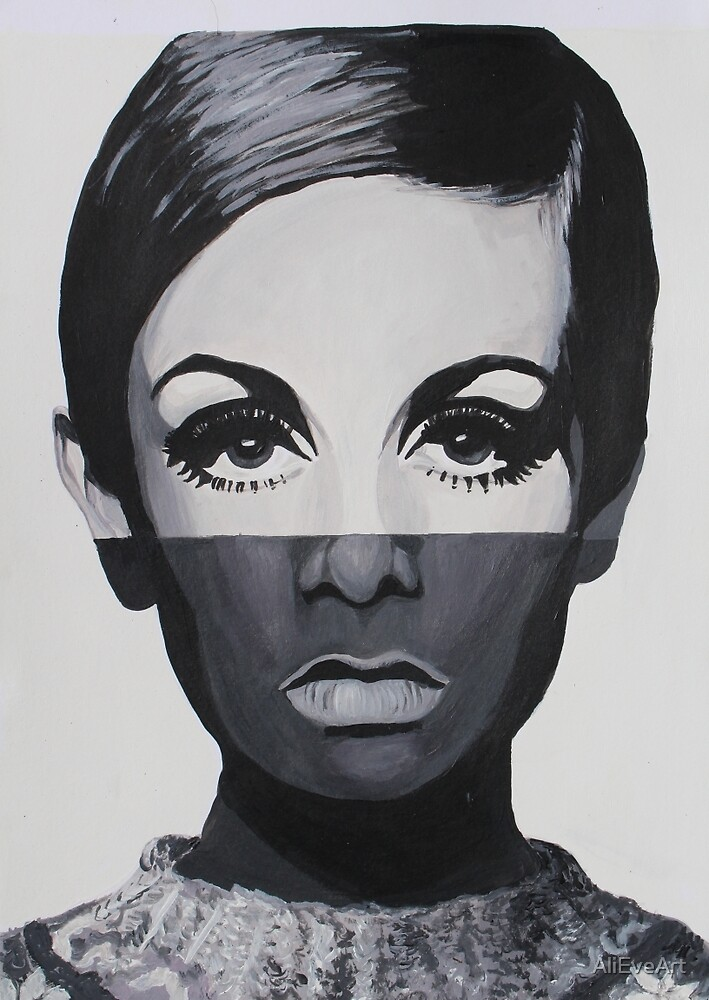 Twigster - Acrylic Abstarct Portrait by AliEveArt
