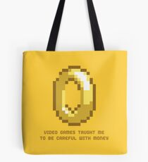 8-Bit Lessons: Video Games Taught Me To Be Careful With Money Tote Bag