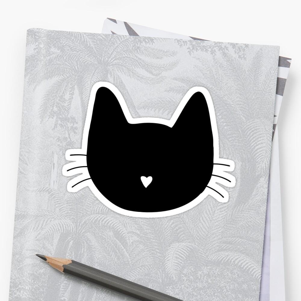 Nariz de gato Pegatina