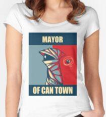 Mayor of Can Town Women's Fitted Scoop T-Shirt