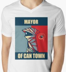 Mayor of Can Town Men's V-Neck T-Shirt