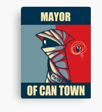 Mayor of Can Town Canvas Print