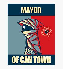 Mayor of Can Town Photographic Print