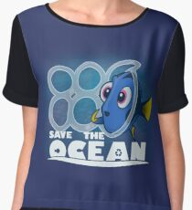 Save The Ocean Chiffon Top
