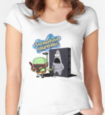 SpongeBobba Squarepants Women's Fitted Scoop T-Shirt