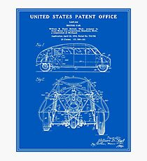 Vintage car patent wall art redbubble motor car patent blueprint photographic print malvernweather Gallery