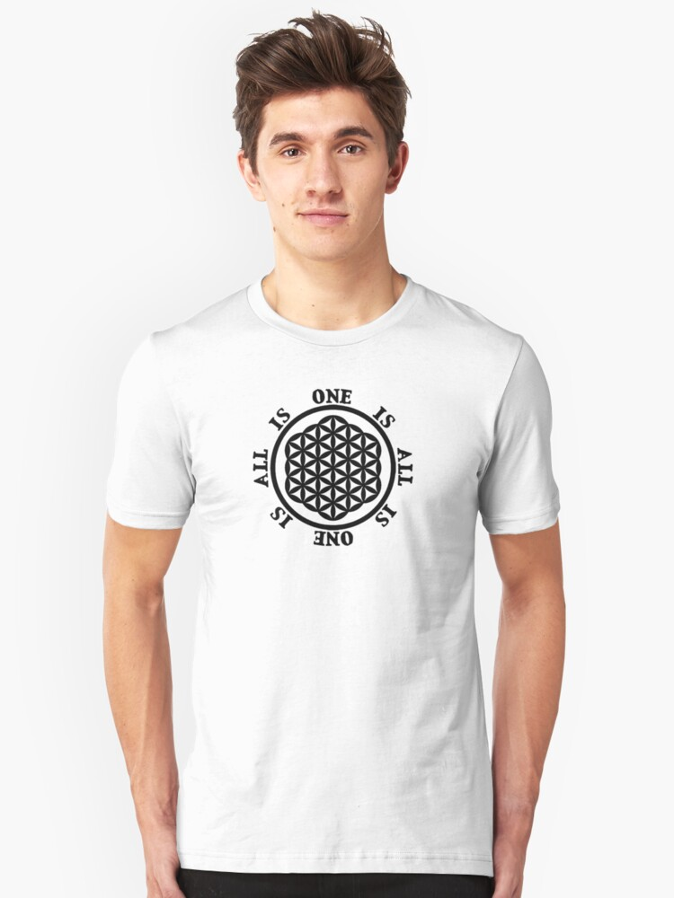 Sacred Geometry: Flower of Life - Unity II Unisex T-Shirt Front