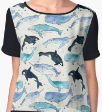 Whales, Orcas & Narwhals Women's Chiffon Top