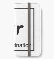 The Element of Procrastination iPhone Wallet/Case/Skin