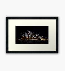 I Spot Sails - Sydney Vivid Festival Framed Print