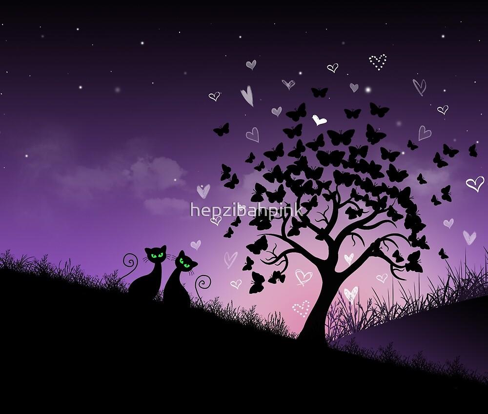 'Purple Skies' by hepzibahpink