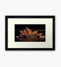 Square Sails - Sydney Opera House - Vivid Sydney Framed Print