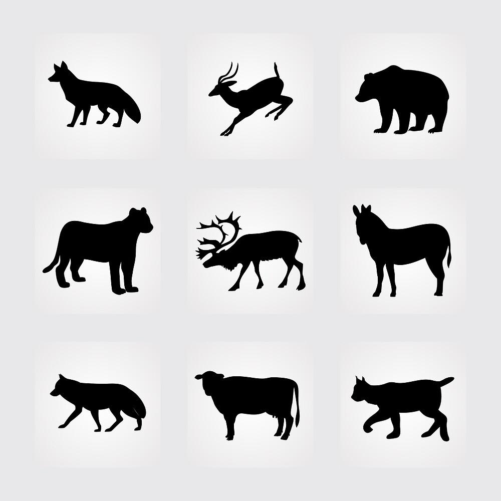animals icons,vector illustration by elisabetaaa