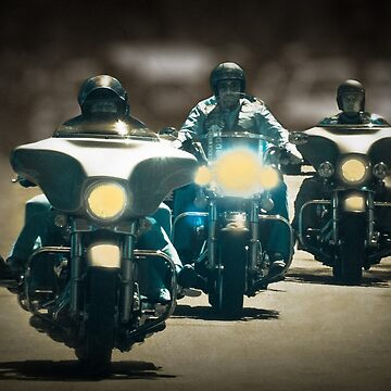 The three Harley Davidsons by pedroec1