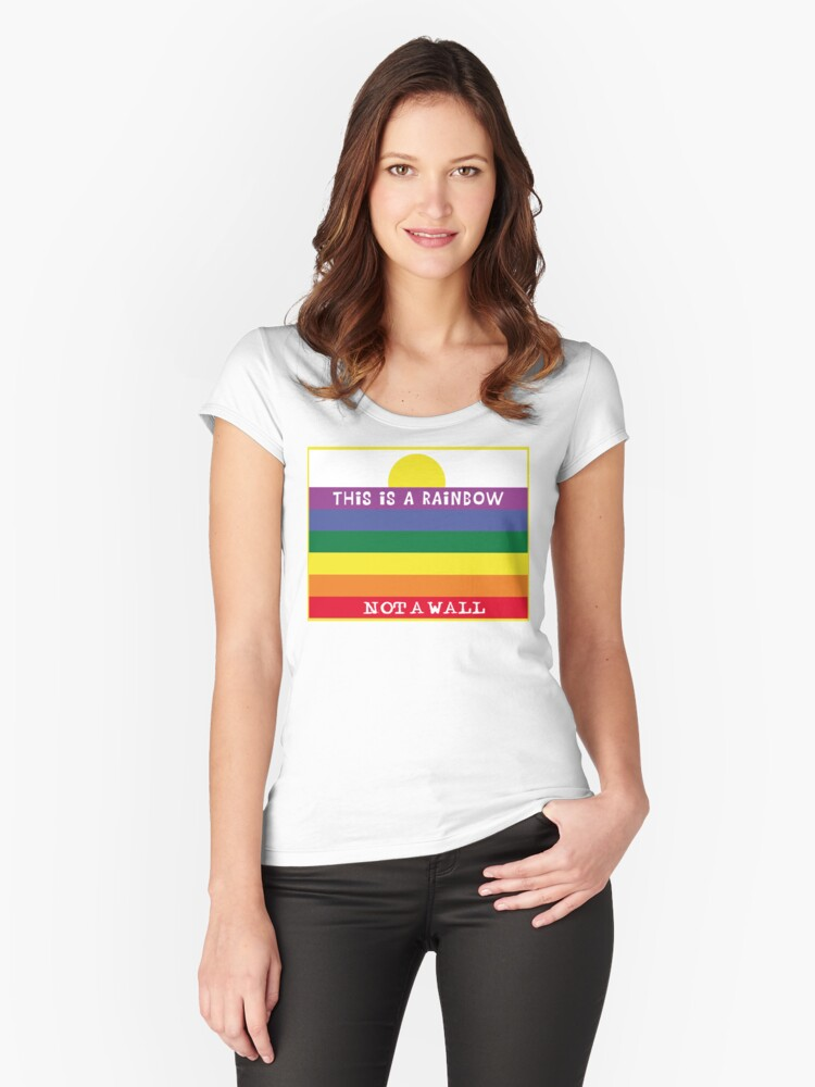 Rainbow wall Women's Fitted Scoop T-Shirt Front