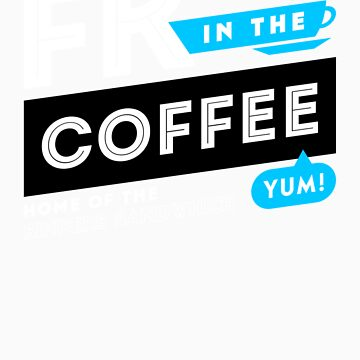 Deadly Premonition - FK In The Coffee Official Tee (White / Blue) by chadzero