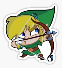Chibi Link Bow Sticker