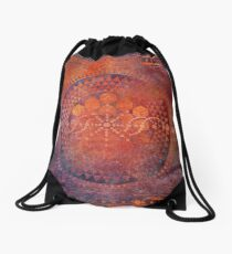 Desert Crop Circle Drawstring Bag