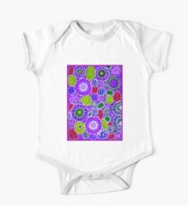 """""""PURPLE HAZE"""" Colorful Abstract Colorful Print One Piece - Short Sleeve"""