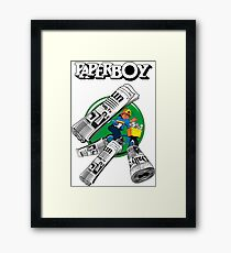 PAPERBOY RETRO ARCADE GAME Framed Print