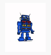 Blu Bot White Photographic Print