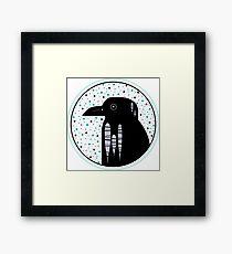Raven Dots Framed Print